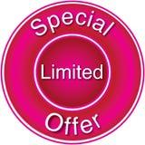 Oferta limitada especial Imagens de Stock Royalty Free