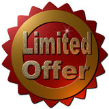 Oferta limitada (selo) Imagens de Stock Royalty Free