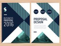 Oferta limpia moderna del negocio, informe anual, folleto, aviador, prospecto, plantilla corporativa del diseño de la presentació Imagen de archivo