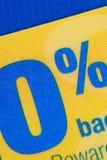 Oferta promocional del 0% ABRIL Fotografía de archivo libre de regalías