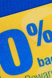 Oferta relativa à promoção de 0% ABRIL Fotografia de Stock Royalty Free
