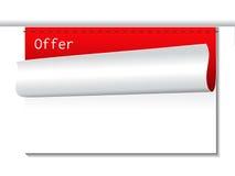 Oferta szablon - sztandary dla reklamowego teksta Obrazy Royalty Free