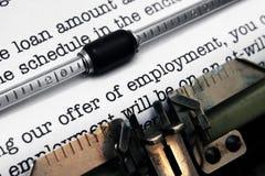 Oferta zatrudnienie obraz stock