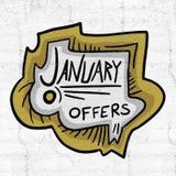 Ofertas de enero libre illustration