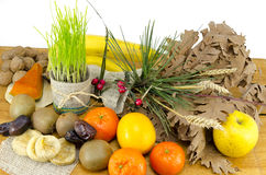Ofertas de Rich Chrsitmas Eve que incluem o vário fruto foto de stock