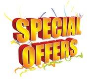 Ofertas especiais 3D douradas Fotografia de Stock