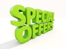 ofertas especiales 3d ilustración del vector