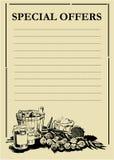 Ofertas especiales PriceBoards Foto de archivo libre de regalías