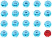 Oferty lub rabat odznaki Ilustracji