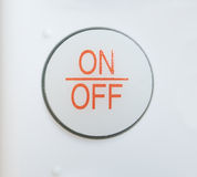 On-off κουμπί στοκ εικόνες