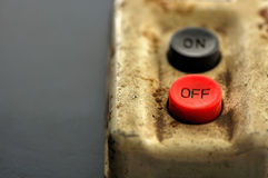 OFF switch button Royalty Free Stock Image