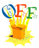 Off. Logo created in illustrator. can use for advertisements Royalty Free Stock Images