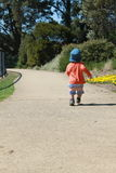 Off on an adventure. Little boy off on an adventure Royalty Free Stock Images