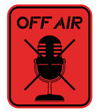 Off air sign Stock Image