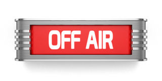 OFF AIR sign. 3d render of OFF AIR sign  on white background Royalty Free Stock Images