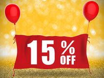 15%off banner Royalty-vrije Stock Foto