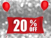 20%off banner Stock Photos