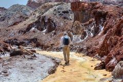 Off the Beaten Path Tour Hormuz Island, Hormozgan Province, Iran. Nature Landscape in Hormuz Island, Persian Gulf, Hormozgan Province, Southern Iran Off-The stock photos