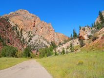 Off the Beathen Path Near Flaming Gorge, Utah. Incredible Summer Colors on Back Roads of Flaming Gorge, Utah Royalty Free Stock Photography
