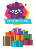 -25 Off Best Discount Exclusive Sale Poster Gifts Royalty Free Stock Photo
