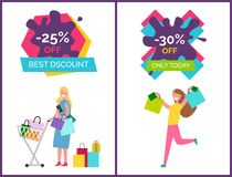 -25 Off Best Discounts Today Vector Illustration Royalty Free Stock Images