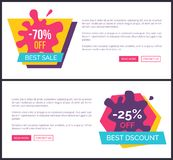 -70 Off Best Sale, Promotional Labels with Blots Stock Photography