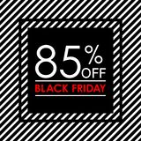 85% off. Black Friday sale and discount banner. Sales tag design template. Vector illustration. 85% off. Black Friday sale and discount banner. Sales tag design vector illustration