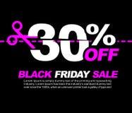 30% OFF Black Friday Sale, Promotional Poster or Sticker Design Vector Illustration. Promotional Poster or Sticker Design Vector Illustration Vector Illustration