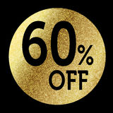 60% off. In bright gold Royalty Free Stock Photo