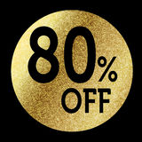 80% off. In bright gold Stock Photo