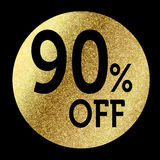 90% off. In bright gold Royalty Free Stock Images