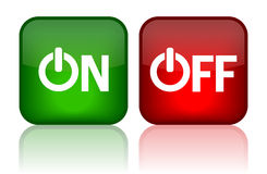 On off button. On off web buttons illustration Royalty Free Stock Photos