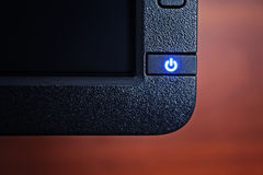 ON OFF button. The power button on the monitor Royalty Free Stock Photos