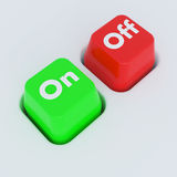 On-Off Button Royalty Free Stock Images