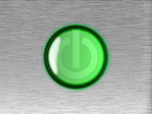 On- off button. On- off green button on panel Royalty Free Stock Photography