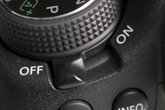OFF button of a DSLR camera Stock Photography