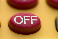 Off button macro Royalty Free Stock Photos