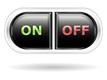 On and off buttons. For interfaces Stock Photos