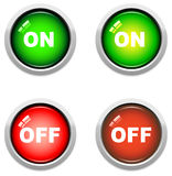On / Off Buttons Royalty Free Stock Photo