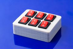 On-off buttons box Stock Photos