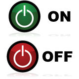 On and off buttons Royalty Free Stock Images