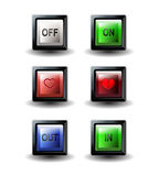 On off buttons square Royalty Free Stock Photo