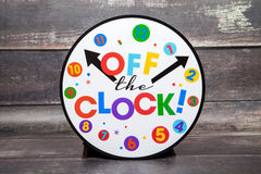 Off The Clock Stock Photography
