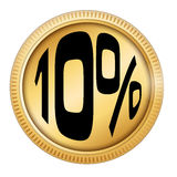 10% off. In a coin Stock Photography