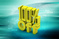 100 % off. In color background Stock Photography