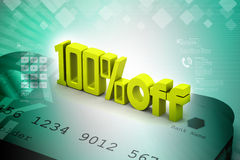 100 % off. In color background Royalty Free Stock Photos