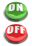 On off 3d buttons isolated on a white background Stock Photo