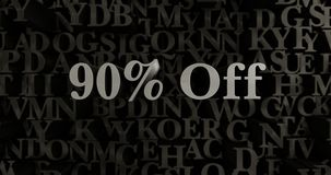 90% Off - 3D rendered metallic typeset headline illustration. Can be used for an online banner ad or a print postcard Royalty Free Stock Photography