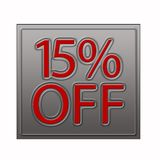 15% Off Discount Offer illustration. 15% Off Discount Offer 3d illustration stock illustration