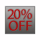 20% Off Discount Offer illustration. 20% Off Discount Offer 3d illustration stock illustration